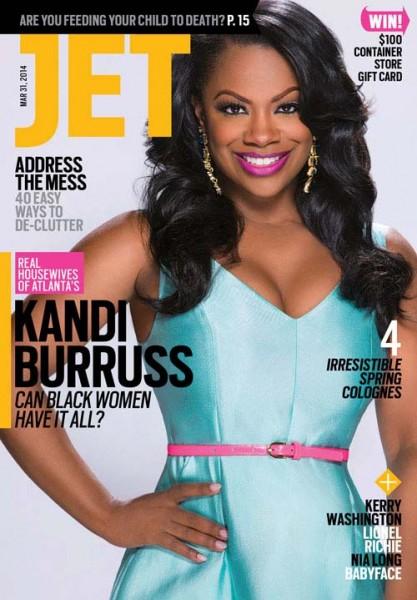 Kandi Burruss on Jet Magazine Cover