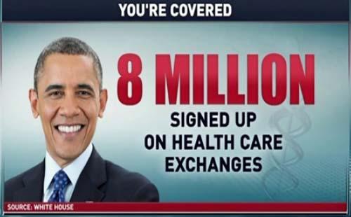8 Million Signed Up For Obamacare