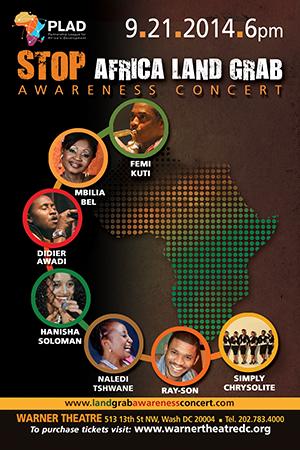 Stop Africa Land Grab Awareness Concert