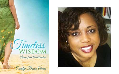 Carolyn Denise Owens and Bookcover For Timeless Wisdom
