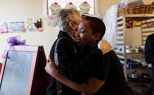 Ferguson Bakery receives donations