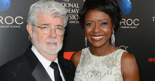 George Lucas and Wife