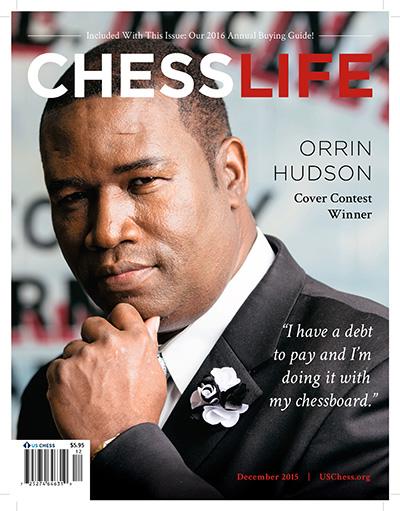 Orrin Hudson on Chess Life Magazine Cover
