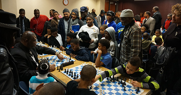 Orrin Hudson hosts a community event