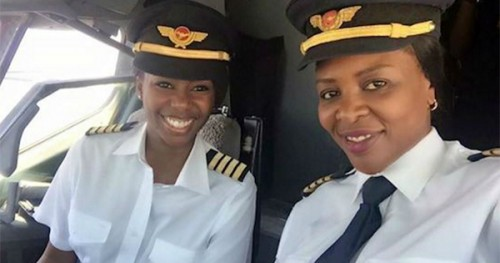 Captain Elizabeth Simbi Petros and Captain Chipo M. Matimba