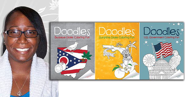 Setria James, founder of Doodle Coloring Books