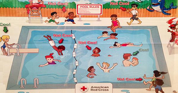 American Red Cross Racist Pool Sign