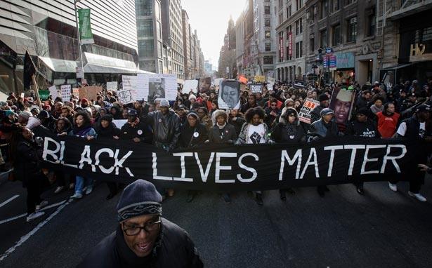 Black Lives Matter group protesting