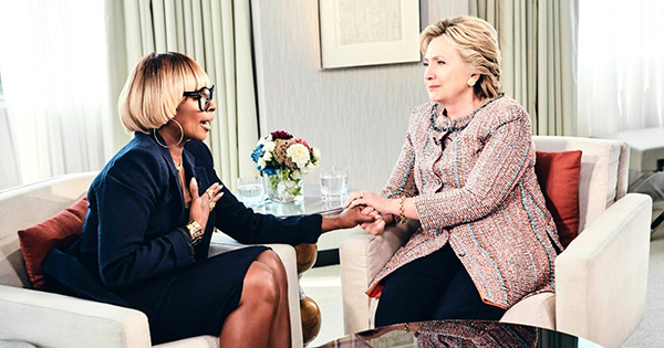 Mary J. Blige with Hillary Clinton