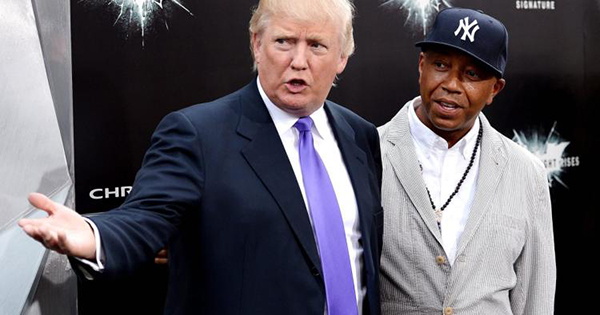 Donald Trump and Russell Simmons
