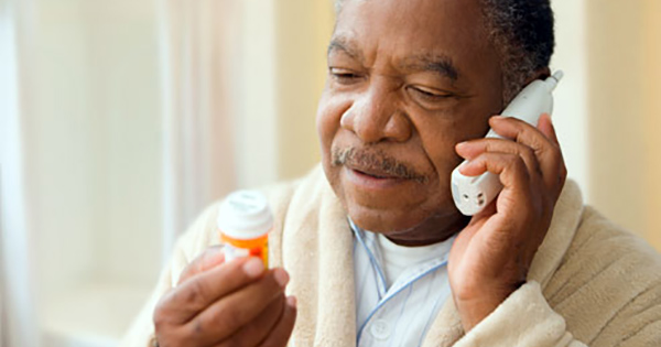 African American man with prescription