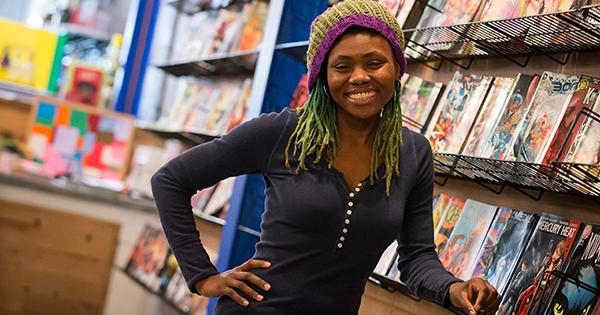 Ariell Johnson, owner of Amalgam Comics & Coffeehouse