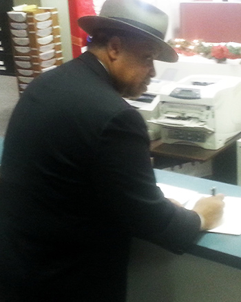 John Cheeks submits proposed legislation to DC Board of Elections