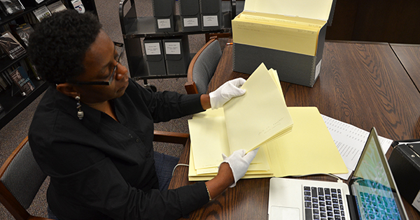 Antoinette Harrell conducting child peonage research