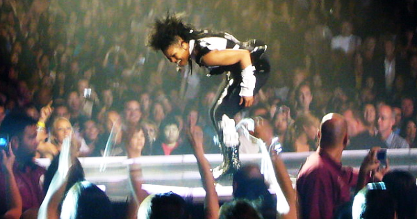 Janet Jackson video shoot