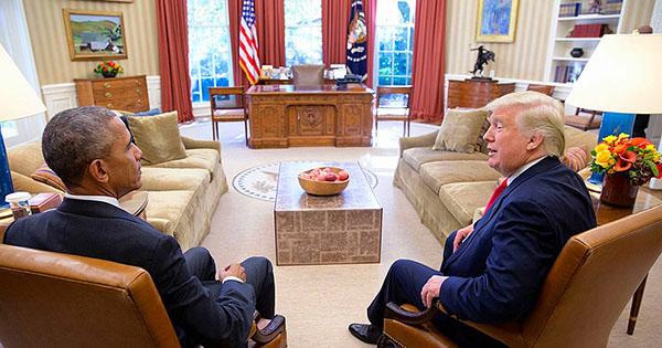 Donald Trump with Barack Obama
