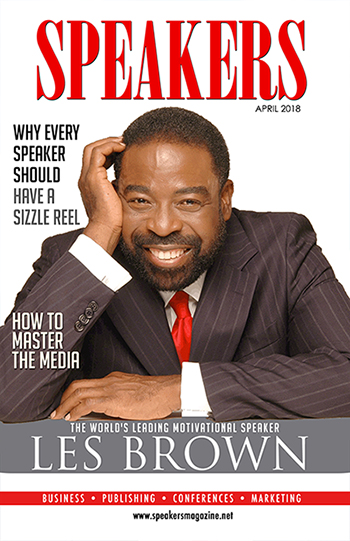Speakers Magazine cover with Les Brown