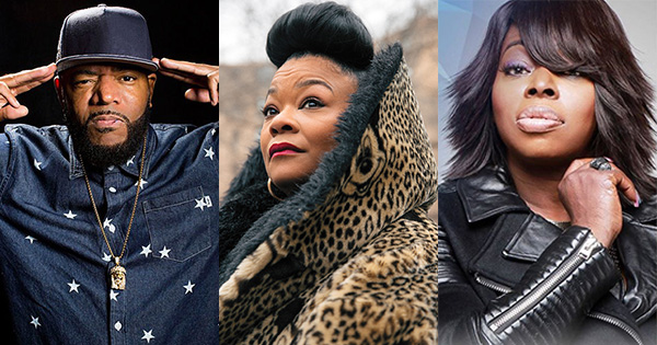 Ed Lover, Roxanne Shante, and Angie Stone