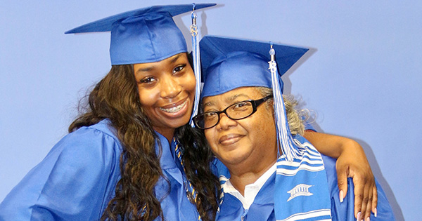 Grandmotther and granddaughter graduate together at Tennessee State University