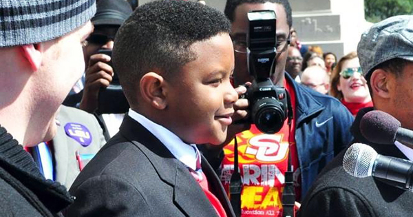 Elijah Precciely, 11-year old boy with scholarship to Southern University