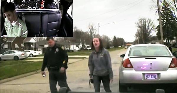 White officer detaining his daughter's Black boyfriend