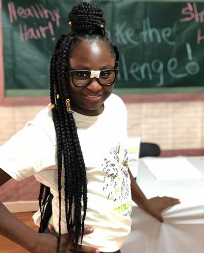 Gigi, 9-year old founder of Natural Brunch Kids