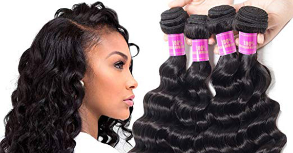 Black woman hair extensions