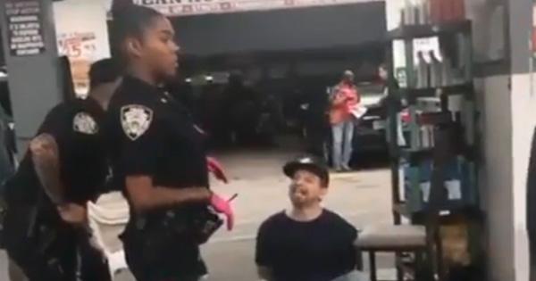 Black female NYPD officer kept her cool despite a man shouting racial slur at her