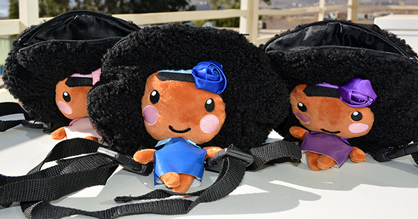 African American backpack dolls for girls