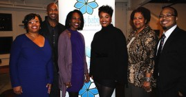 Jill Scott and scholarship recipients of her Blue Babes Foundation Program