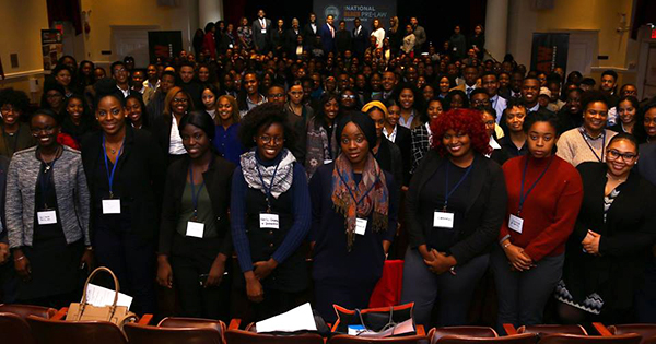 Attendees at the Black-Pre Law Conference and Law Fair