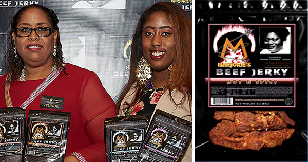 Michelle Timberlake, founder of Majorie's Beef Jerky; and her daughter