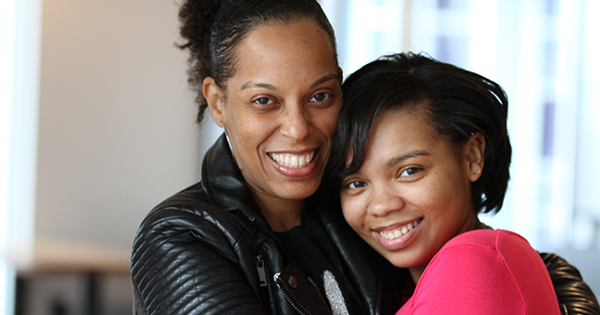Essynce Moore and her mom, Starr Barrett