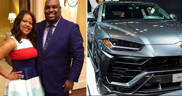 Pastor John Gray gave his wife a Lamborghini car as a gift