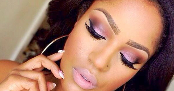 African American woman's eyebrows
