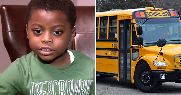 Ibn Polk, young student left on school bus