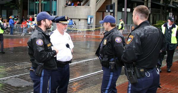 Portland police officers