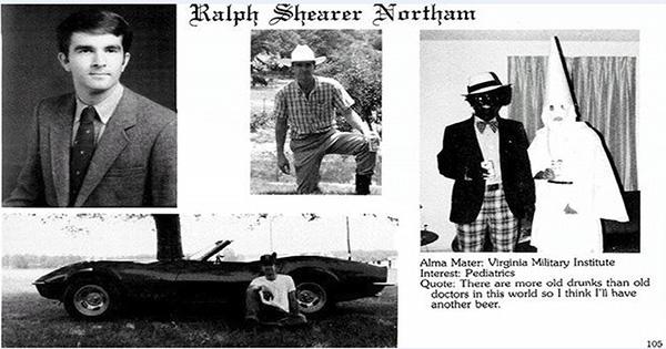 Virginia Governor Ralph Northrum's racist medical school photo