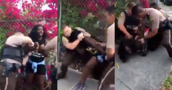 Dyma Loving, Black woman violently arrested by Miami police officers
