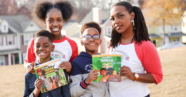 Authors Jennaye Fennell and her children