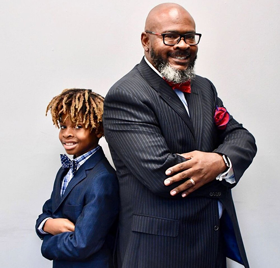 Kevon Chisolm and son, founders of Black Wall Streeter Consulting
