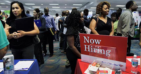 African Americans at Job Fair