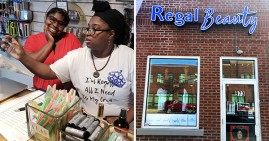 Dasha Tate and Deanna Jones, founders of Regal Beauty in Columbus, Ohio