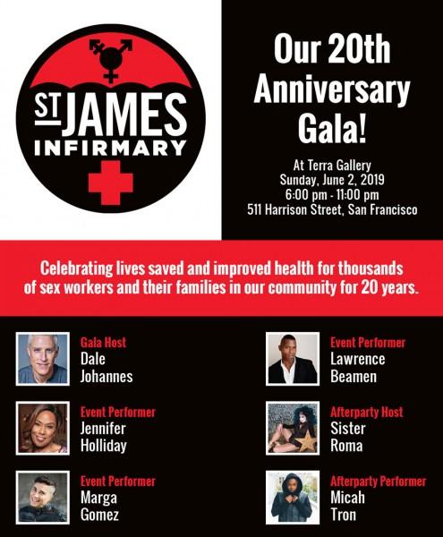 St James Infirmary 20th Anniversary Gala