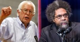 Cornell West and Bernie Sanders