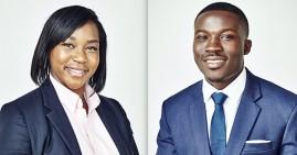 Melanie Igwe and Kwaku Owusu, founders of Drugviu