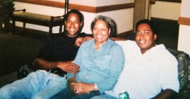Blanche J. Moore with her 2 sons