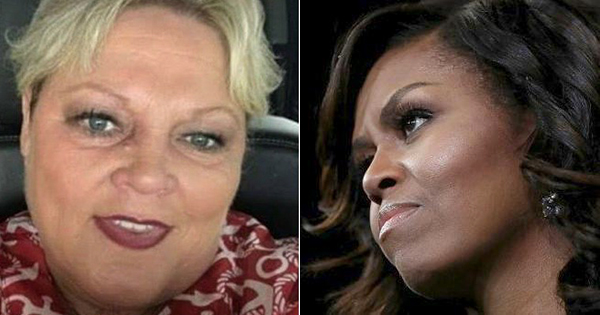 Pamela Taylor and Michelle Obama