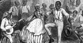 African Americans playing and dancing to country music