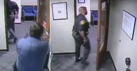 Black sheriff, Alan Gaston, confronted by white security guard